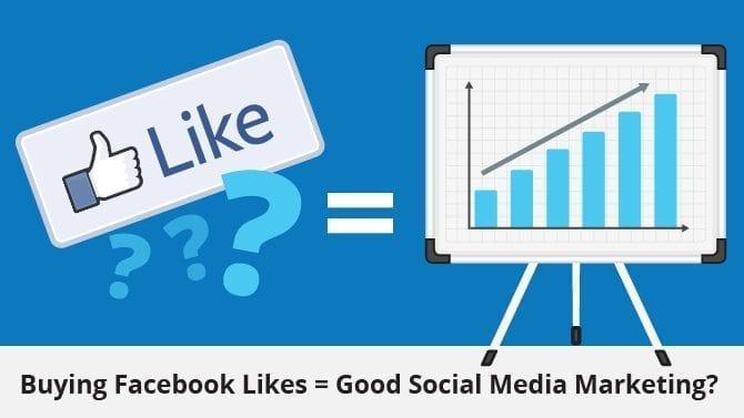 buying Facebook likes for social media marketing