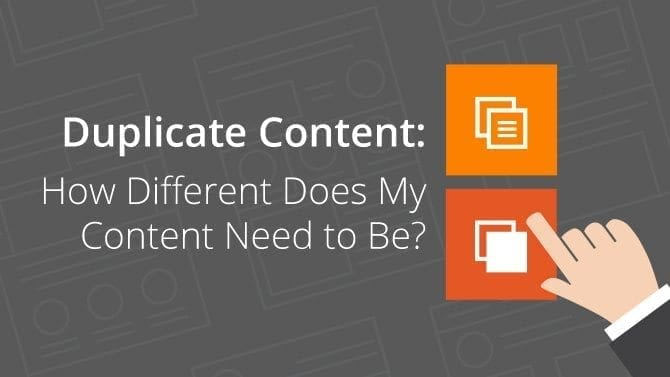 duplicate content and content marketing