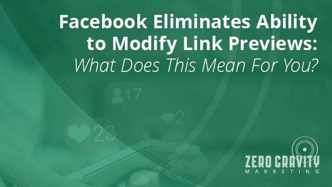 Facebook Eliminates Ability to Change Link Previews