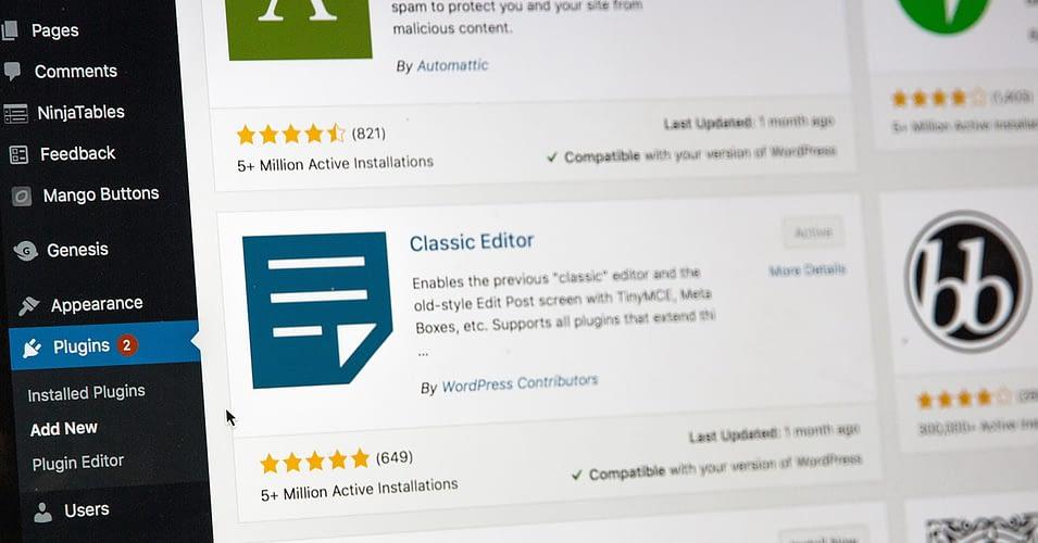 Updating to WordPress 5.3