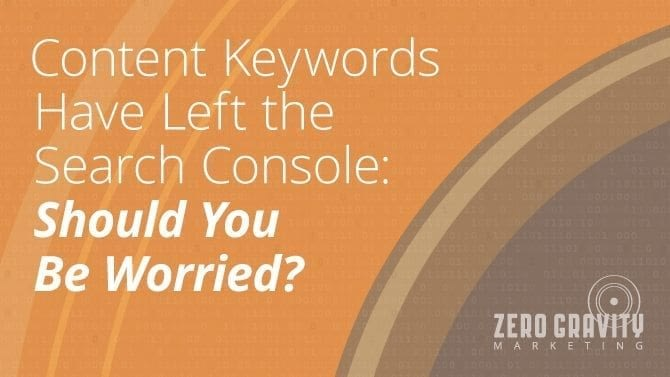 content keywords in search console