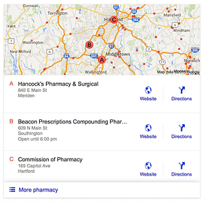 local search results have changed