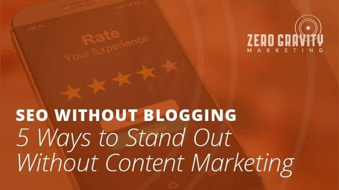 seo without blogging