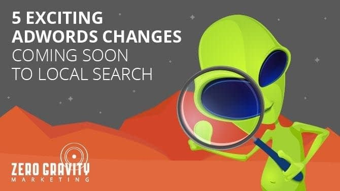 local search changes to adwords