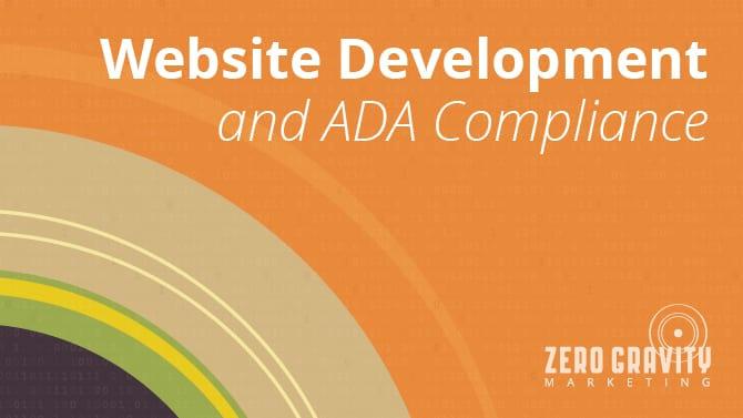 Website Development and ADA Compliance