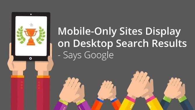 mobile sites on desktop results