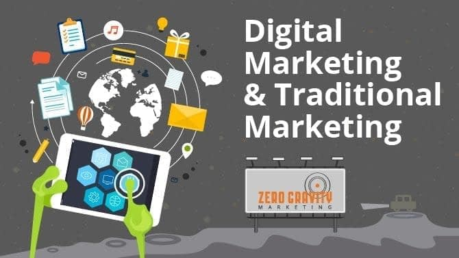 traditional marketing and digital marketing together
