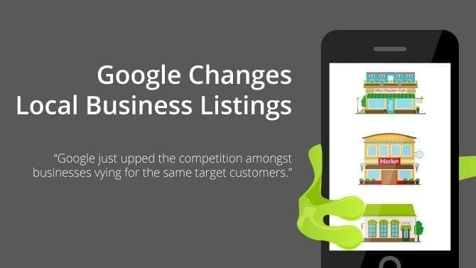 google changed local business listings