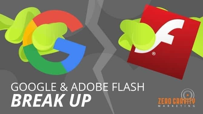 google and adobe flash break up