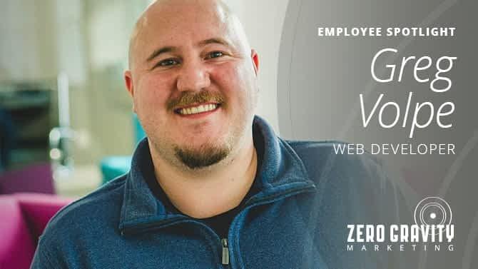 Greg Volpe, Web Developer