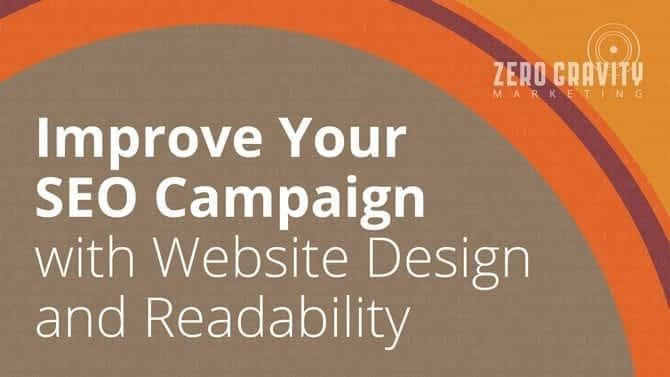 improve seo campaign with website design and readability